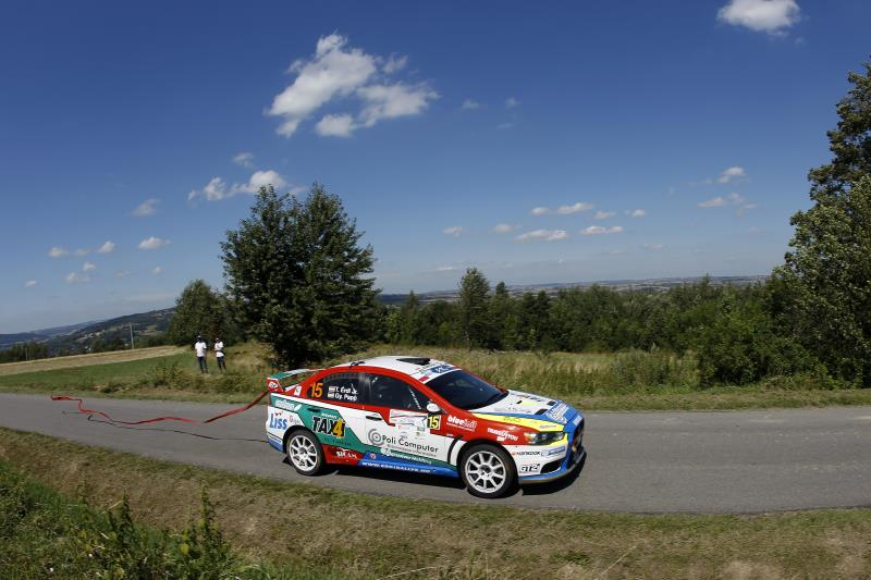 15 ERDI Tibor PAPP Gyorgy Mitsubishi lancer EVO X action during the 2016 European Rally Championship Rally Rzeszowski in Poland from August 4 to 6 - Photo Gregory Lenormand / DPPI