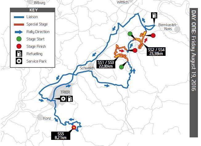 WRC ADAC Rallye Deutschland 2016 Day1