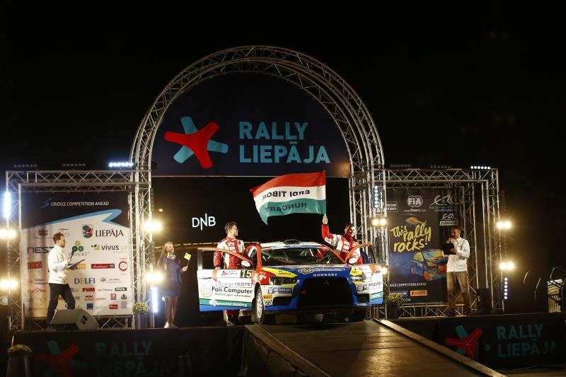 15 Erdi Jr. Tibor Papp Gyorgy Mitsubishi Lancer Ambiance Portrait during the 2016 European Rally Championship ERC Liepaja rally, from september 16 to 18 at Liepaja, Lettonie - Photo Gregory Lenormand / DPPI