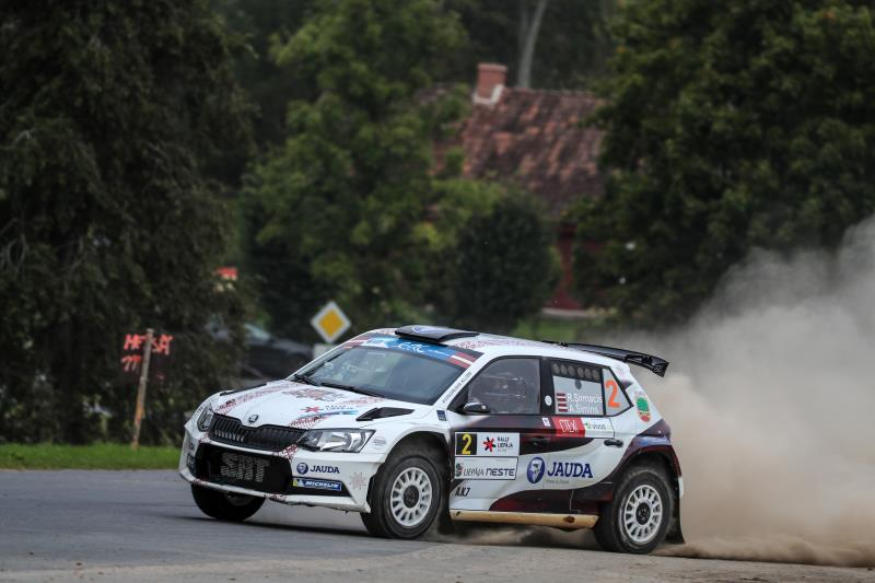 02 Sirmacis Ralfs Simins Arturs Skoda Fabia R5 Action during the 2016 European Rally Championship ERC Liepaja rally, from september 16 to 18 at Liepaja, Lettonie - Photo Jorge Cunha / DPPI